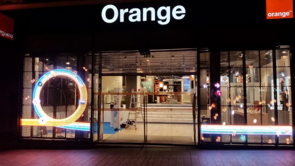 Transparent video displays for Orange